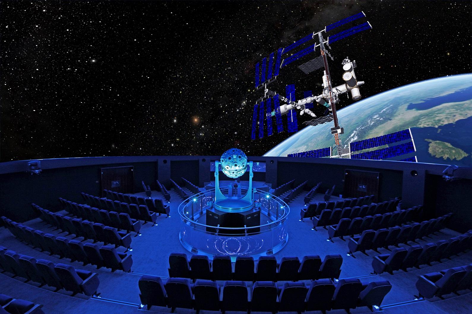 Das Zeiss Planetarium Bochum von innen: Die 360