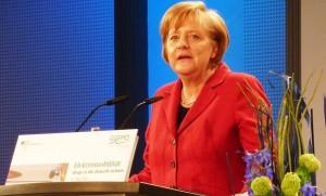 Bundeskanzlerin und CDU-Chefin Angela Merkel hält - wohl aus Koalitionsraison - am Betreuungsgeld fest. Noch. Foto: Rudolf Simon / Wikimedia Commons (CC-BY-3.0)