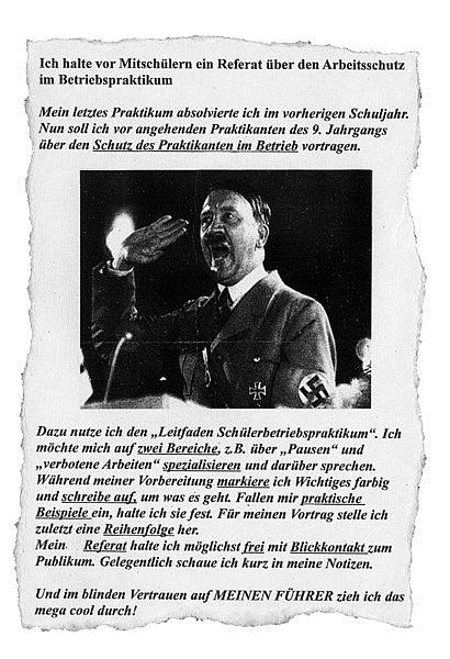 Hitlerbild auf Arbeitsblatt – Lehrer suspendiert | News4teachers