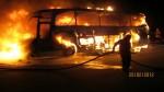 Bei einem Unfall im Februar 2012 in Niedersachsen brannte der Bus vollständig aus - acht Schüler wurden damals verletzt. Foto: Polizeiinspektion Heidekreis