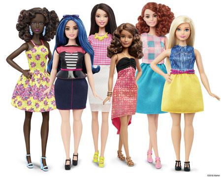 Sensation auf der Spielwarenmesse: Barbies gibt es jetzt in verschiedenen Größen und Hautfarben und mit Kurven. (Bild: Mattel.de)