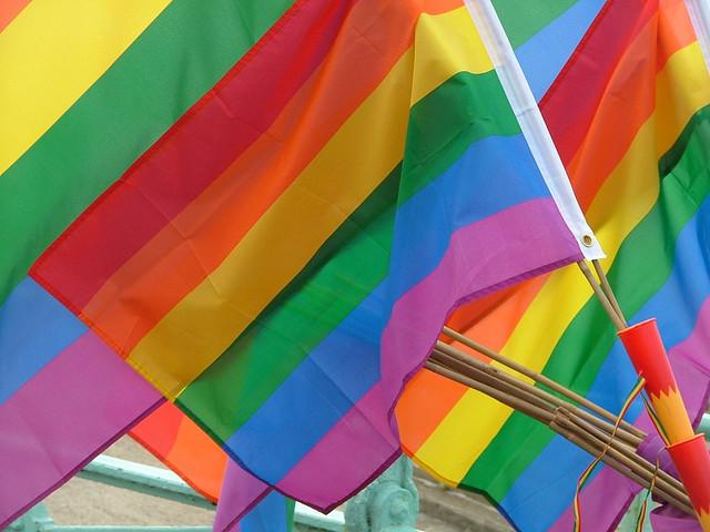 Homosexuellen-Aktivisten-Fahnen