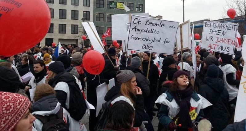 Auftakt der aktuellen Warnstreik-Welle in Berlin. Foto: GEW Berlin