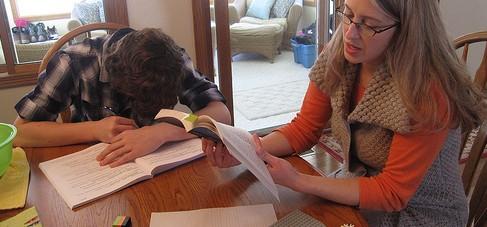 Mütter sehen sich zunehmend unter Druck, den Schulstoff mit ihren Kindern nachzuarbeiten. (Foto. IowaPolitics/Flickr CC BY-SA 2.0)