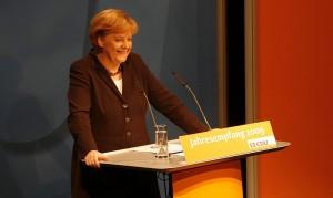 Angela Merkel gab sich im Vorfeld des Parteitages in Sachen Bildung betont bescheiden. Foto: