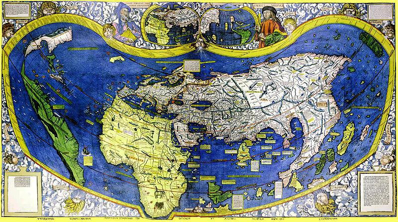 Eine Weltkarte des Kartografen Martin Waldseemüller von 1508. Foto: University of Minnesota / Wikimedia Commons