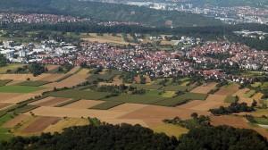"""Hier, im beschaulichen Ostfildern bei Stuttgart ensteht der """"Zündstoff"""" (Foto: Brücke-Osteuropa/Wikipedia CC0 1.0)"""