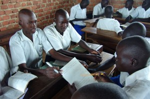 Schüler in Uganda
