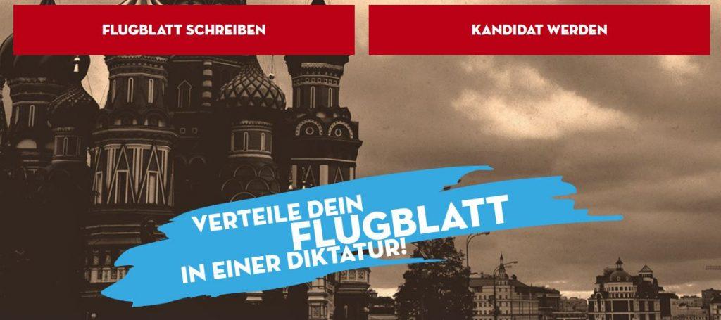 Die Homepage der Aktion ist professionell gemacht - sie dürfte Schüler ansprechen. Screenshot