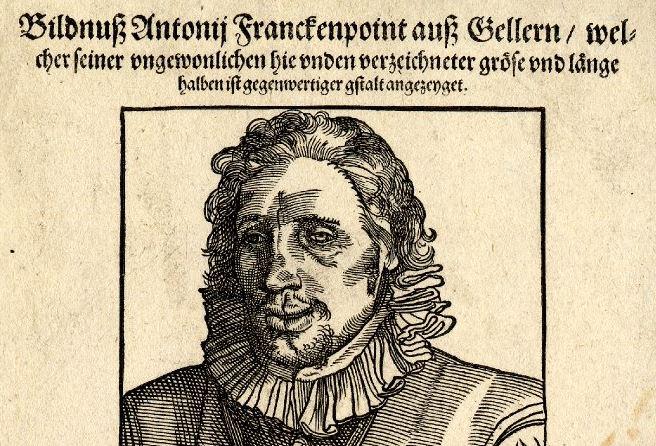 """Der """"Lange Anton"""" in einer zeitgenössischen Darstellung - er war eine Berühmtheit. Illustration: Wikimedia Commons"""