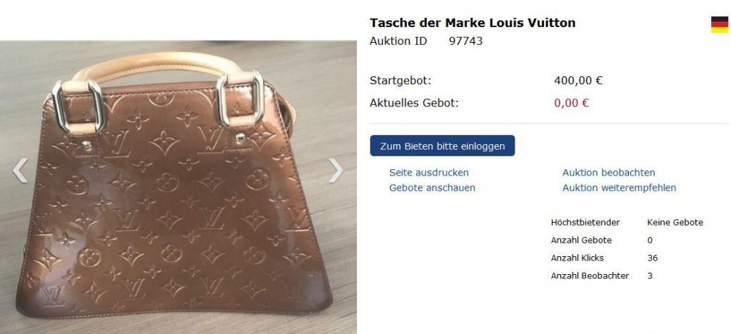 Das Land lässt die Handtaschen jetzt versteigern. Screenshot: N4t