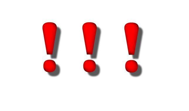 Drei Satzzeichen: Es wird ernst. Illu: By Skend (Own work) [Public domain], via Wikimedia Commons