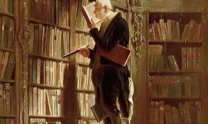 """Deutschlands Hochschulen müssen sich neu erfinden um bei der Digitalisierung Schritt zu halten, meint die HAW-Präsidentin. (Bild: Carl Spitzweg """"Der Bücherwurm"""" via Wikimedia Commons (gemeinfrei)"""