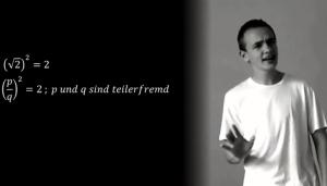 """Nicht wirklich irrational: Gerappte Algebra von Johann Beurich. Foto: """"Youtube"""" Screenshot http://www.youtube.com/watch?v=vnMrUAvKtAg&feature=relmfu"""