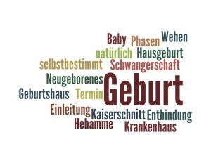 Wortwolke Geburt