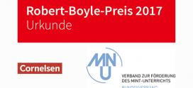 Frank Liebner vom Geschwister Scholl Gymnasium in Löbau erhält Robert-Boyle-Preis 2017 für Naturwissenschaften