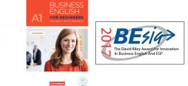 """Lehrwerk für Erwachsenenbildung """"Business English for Beginners"""" mit dem David-Riley-Award ausgezeichnet"""