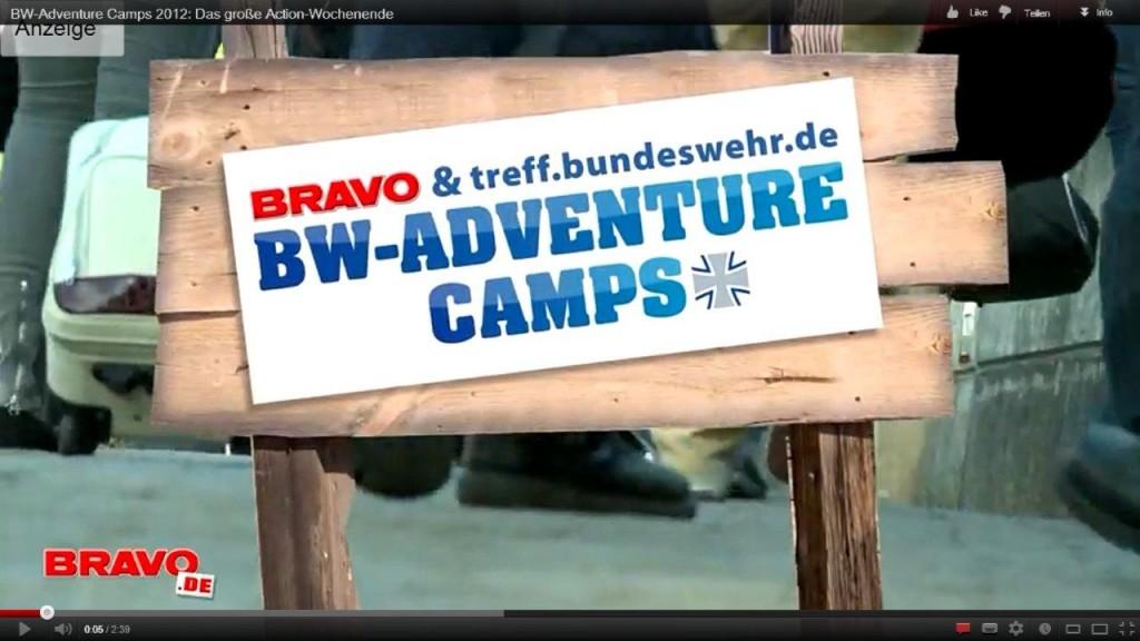 Die Abenteuercamps sind ein großer Spaß für Jugendliche, das findet zumindest der Veranstalter. (Screenshot: Bravo.de)
