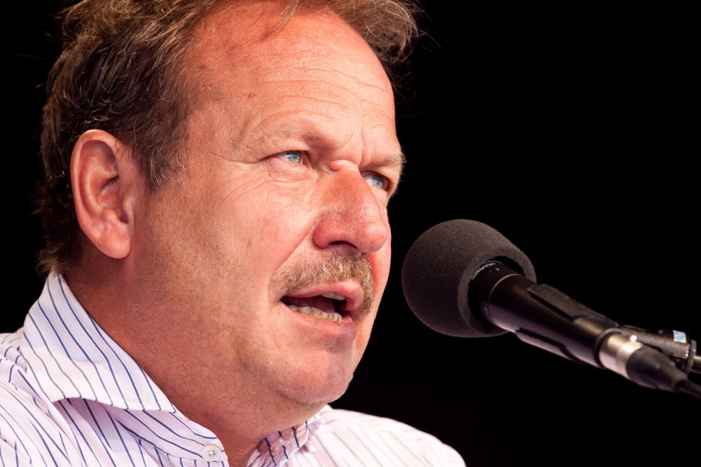 Trat in Dortmund als Redner auf: Verdi-Chef Frank Bsirske. Archivfoto: Tobias M. Eckric / Wikimedia Commons (CC BY 3.0)