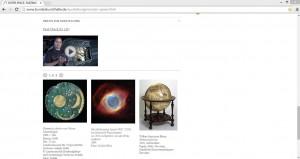 """Die Ausstellung """"Outer Space"""" verbindet wissenschaftliche und künstlerische Artefakte zum Thema Weltraum. Screenshot von www.bundeskunsthalle.de/ausstellungen/outer-space.html"""
