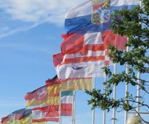 Fahnen der in der Kultusministerkonferenz vertretenen Bundesländer