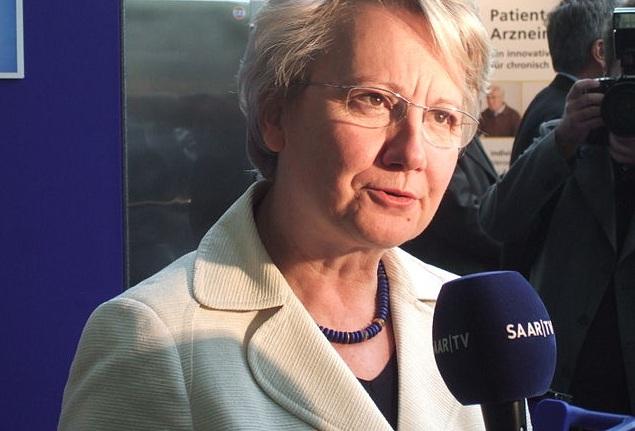 Bundesministerin Annette Schavan wird von dem Blogger hart kritisiert, während die Uni Düsseldorf noch prüft. . Foto: Andreas Schepers / Wikimedia Commons(CC-BY-SA-3.0)