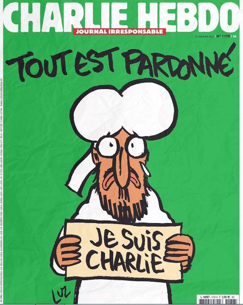 """Ist dieses Titelbild von """"Charlie Hebdo"""" für Schüler ungeeignet? Screenshot"""