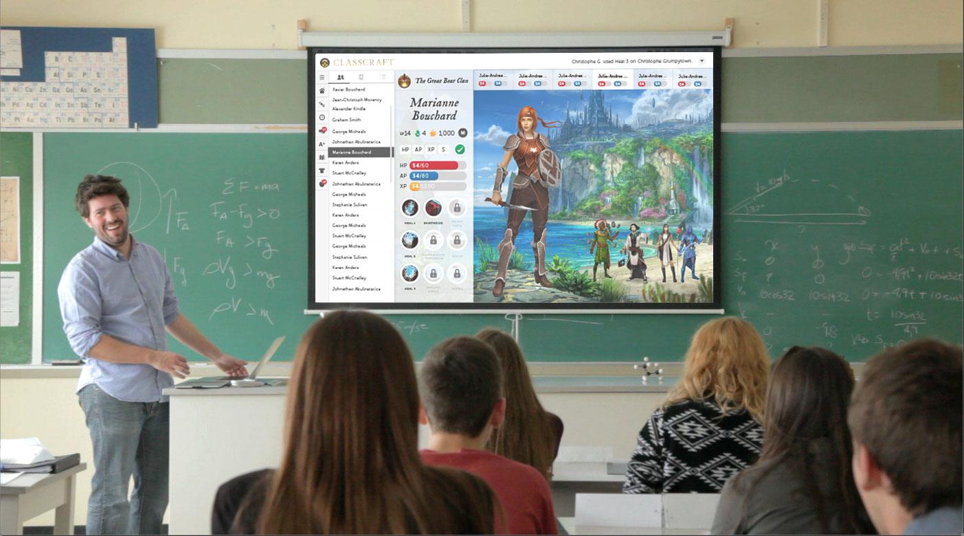 Classcraft läßt sich als Rahmenhandlung in den normalen Unterricht einbinden. (Foto: Classcraft-PR)