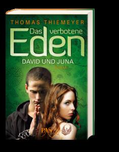"""""""DasVerboteneEden"""" erzählt die verbotene Liebe zwischen einer Kriegerin und einem Möch. (Cover: Pan-Verlag)"""