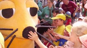 Die Maus auf dem Deutschen Evangelischen Kirchentag in Köln 2007. Foto: Immanuel Giel / Wikimedia Commons