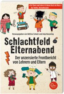 """Buchcover - """"Schlachtfeld Elternabend"""""""