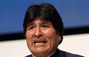 Evo Morales will Lehrern Laptops mit seinem Konfertei schenken. Die freuen sich eher weniger. (Foto: Simon Wedege/Wikimedia. CC BY 3.0)
