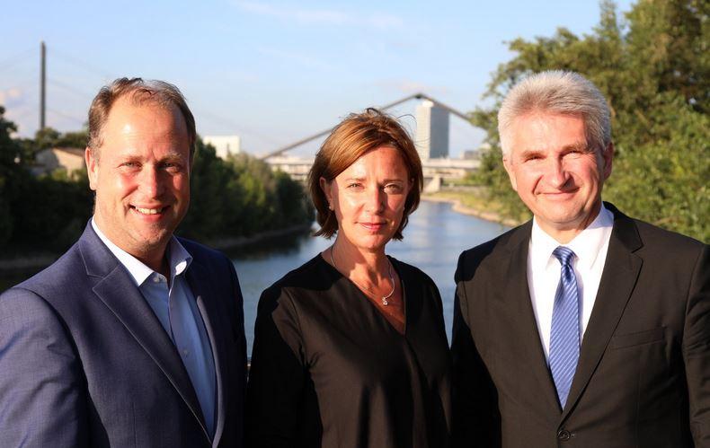 Die neuen FDP-Minister in Düsseldorf: Joachim Stamp (l.), Yvonne Gebauer und Andreas Pinckwart. Foto: FDP