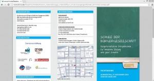 """Mit der Fachtagung will das Bundesnetzwerk Bürgerschaftliches Engagement gemeinsam mit weiteren Organisationen die Förderung von """"Civic Education"""" vorantreiben. Screenshot vonwww.b-b-e.de/fileadmin/inhalte/themen_materialien/pg2_material/flyer_schule-buergergesellschaft_20141022-kompr.pdf"""
