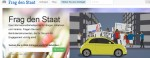 Über die Webseite Frag den Staat.de können Anfragen an Behörden gerichtet werden. (Foto: Screenshot)