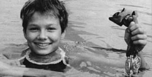 Noch während ihrer ersten Schulkarriere: Der spätere Schwimmstar Franziska van Almsick im Alter von 11 Jahren. Foto: Bundesarchiv / Wikimedia Commons
