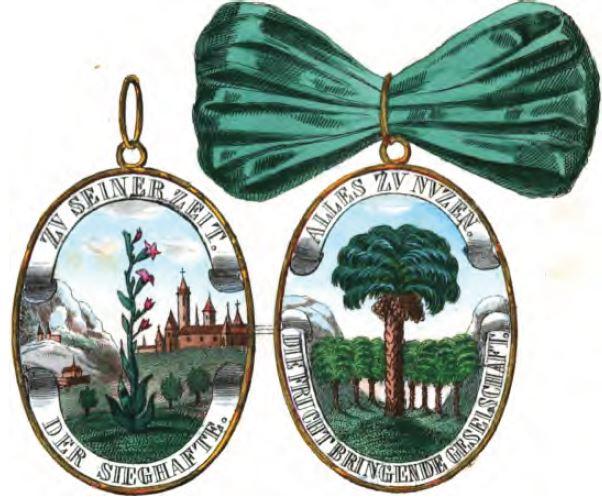 """Medaille der """"Fruchtbringenden Gesellschaft"""" von 1621. Foto: Wikimedia Commons"""