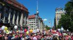 Die Wut wächst - die Beteiligung auch: Heute demonstrierten nach GEW-Angaben rund 3.500 Lehrkräfte für bessere Bedingungen. Foto: GEW Berlin