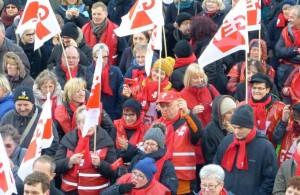 Tausende von Lehrern beteiligen sich an den Streikaktionen. In der nächsten Woche soll es weitergehen. Foto: GEW