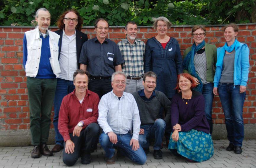 Foto: Mitglieder des Landesvorstands der GEW Bayern - hintere Reihe von links nach rechts: