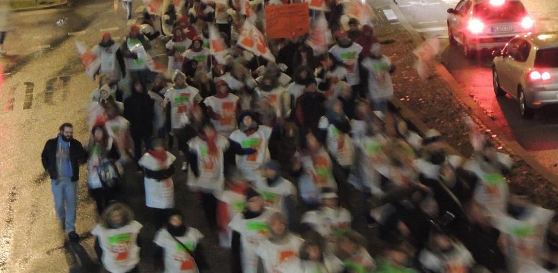 """""""A 13 für alle"""": Grundschullehrer-Demo in Kiel. Foto: GEW"""