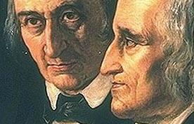 Mehr als nur Märchenerzähler: die Gebrüder Grimm. Illustration: Wikimedia Commons
