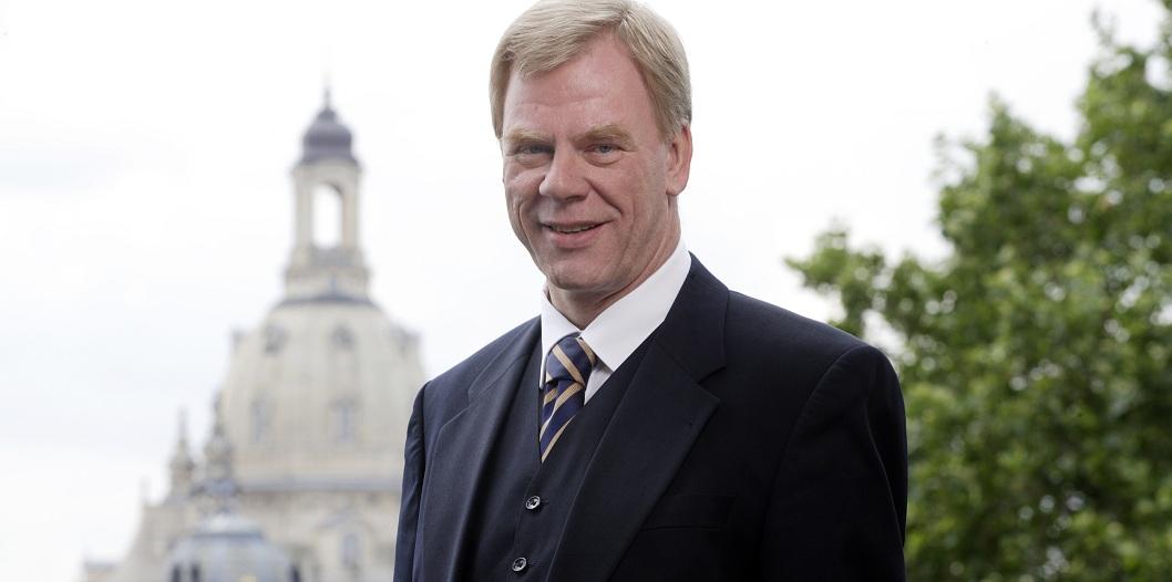 Mutig, aber wenig verbindlich: der sächsische Finanzmínister Georg Unland. Foto. SMF