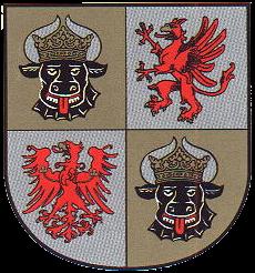Heimatpflege im Schulunterricht: Wappen von Mecklenburg-Vorpommern. Illu: Wikimedia Commons