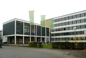 Eingang der Hochschule Hannover