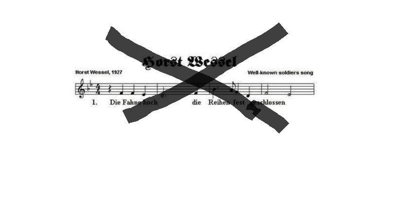 Das verbotene Horst-Wessel-Lied lässt sich im Internet leicht finden. Illu: News4teachers