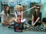 Regula, Charlotte und Lilly im Look der gamescom. (Foto: Nin)