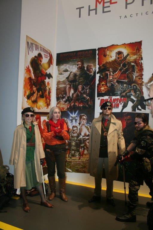 Helden aus einem Computerspiel auf der Messe. (Foto JL)