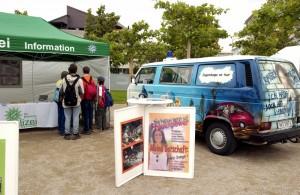 Infostand, VW-Bus, Aufsteller
