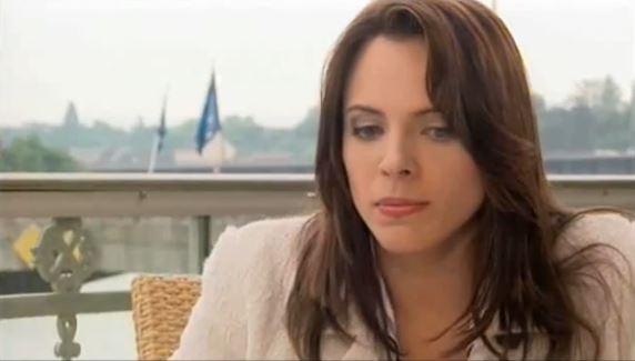 Screenshot vom Auftritt Zoë Jennys in der Interview-Sendung THADEUSZ - der Link zum Video findet sich unten.